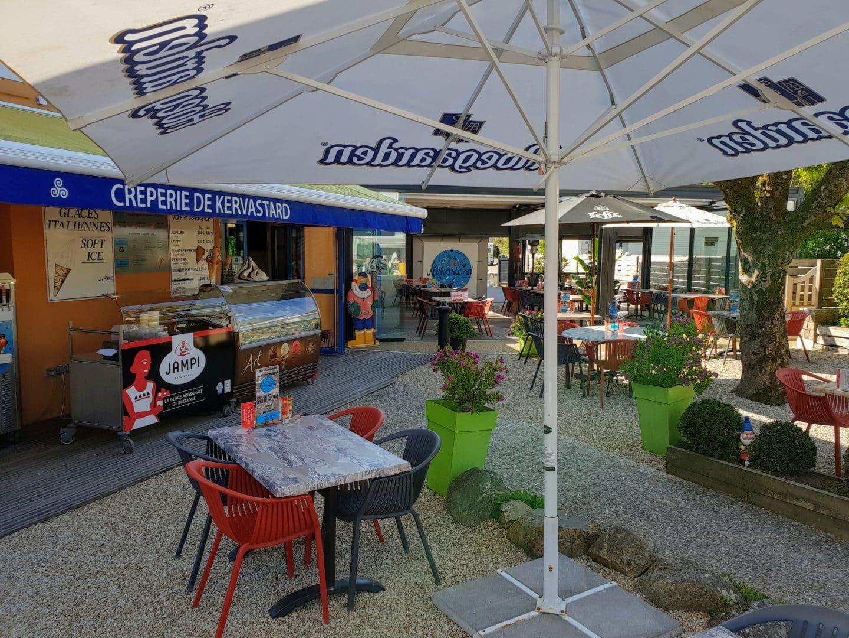 coin terrasse Bar Creperie Kervastard Fouesnant - Menus