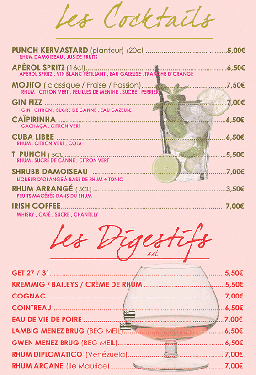 cocktails 2021 kervastard - Bar
